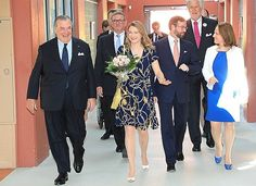 Hereditary Grand Duke Guillaume and Grand Duchess Stéphanie of Luxembourg attend the celebrations marking the 40th anniversary of the Kräizbierg Foundation on 15 June 2017 in Dudelange.