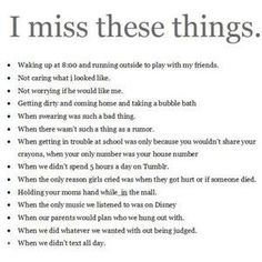 I miss these things..