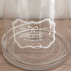 Fuente de cristal con tapa 'Sweets' - Menaje - Decoración - Mon Deco Shop