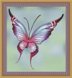Counted Cross Stitch Pattern Flutter No. 1 by StitchXCrossStitch, $2.95