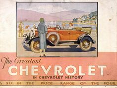 Chevrolet at General Motors, Petone, 1930 Vintage Type, Vintage Ads, Automobile, Catalog Cover, General Motors, Vintage Advertisements, Motor Car, Cover Art, Chevrolet