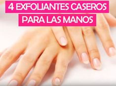 Exfoliantes Caseros para las Manos - Care - Skin care , beauty ideas and skin care tips Pedicure At Home, Manicure Y Pedicure, Hair Loss Treatment, Oily Skin Care, Skin Care Tips, Manicure Simple, Waxing Tips, Cystic Acne Treatment, Homemade Beauty Products
