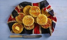 "Elizabeth David's Crumpets in a 2-part article on ""The 20 best British recipes"" in The Observer, UK. Also includes Yorkshire Pudding and Welsh Rarebit."