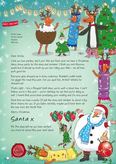nspcc letter from santa magic christmas stardust 2015 https