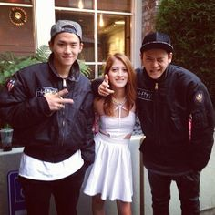 Fan with Kwon Twins