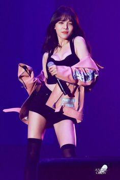 AOA Jimin's 'Revealing' Outfit From Latest Performance Jimin Aoa, Shin Jimin, Seolhyun, South Korean Girls, Korean Girl Groups, Aoa Elvis, Asian Woman, Asian Girl, Girl Body