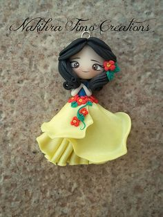 Snow white flower dress polymer clay   Flickr - Photo Sharing!