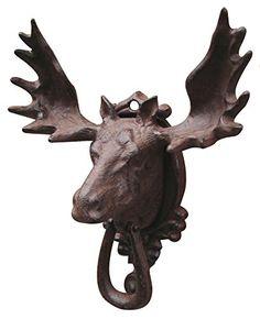 Bull Moose Elk Door Knocker Rustic Cast Iron TreasureGurus http://www.amazon.com/dp/B004C2X84C/ref=cm_sw_r_pi_dp_tPdQvb1CZ3VTN