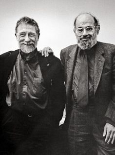 "Gary Snyder with Allen Ginsberg in 1996. Snyder says, ""I am a poet who has preferred not to distinguish in poetry between nature and humanit..."