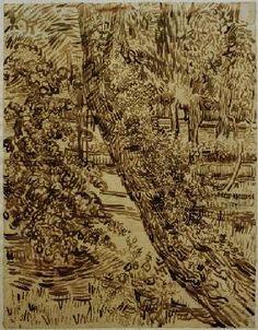 Vincent van Gogh - v.Gogh, Tree w.Ivy in Asylum Garden