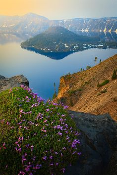 Soft light of a misty sunrise at Crater Lake #nationalpark in Oregon