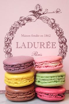 Laduree: Heavenly treats from Paris. I was thrilled to find a store in Geneva, Switzerland. Our daughters love these!