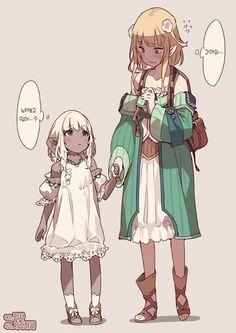 Female Character Concept, Character Design Girl, Character Drawing, Character Design Inspiration, Cute Characters, Female Characters, Anime Characters, Anime Elf, Chica Anime Manga