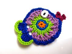 Ravelry: Crochet Fish Applique pattern by Heidi Perry