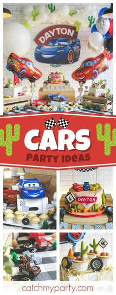 Check out this Fabulous Lightning McQueen Disney Cars birthday party! The birthday cake is awesome!!  See more party ideas and share yours at CatchMyParty.com #catchmyparty #partyideas #lightningmcqueenbirthdayparty #disneycarsbirthdayparty