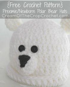 PreemieNewborn Polar Bear Hat