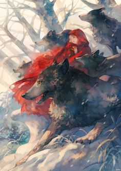 Imagem de anime, wolf, and anime girl Fantasy Kunst, Fantasy Art, Whats Wallpaper, Furry Art, Art Inspo, Character Art, Art Drawings, Fairy Tales, Cool Art
