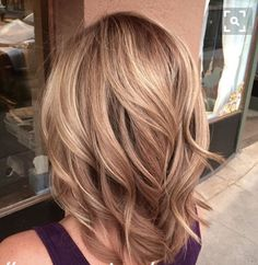 Brown base color with blond highlights