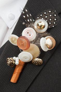 Vintage button buttonhole for a suit