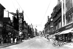 Old photo of Briggate 1951, Leeds  Old photo of one of the busiest shopping streets in Leeds