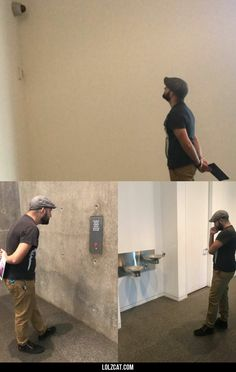 Visited the modern art museum today. Fascinating stuff!#funny #lol #lolzcat