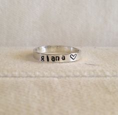 Sterling Silver Personalized Ring Band.  Custom.  Fun.  Message.  Eco Friendly.  Recycled Silver.  FREE Shipping