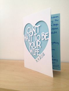 Send your Groom a card before the Wedding to help him fight off the nerves <3