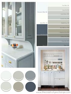 Popular Cabinet Paint Colors Popular and versatile cabinet paint colors for kitchen, bath and built ins. The Creativity ExchangePopular and versatile cabinet paint colors for kitchen, bath and built ins. The Creativity Exchange Kitchen Decorating, Home Interior, Interior Design, Trending Paint Colors, Kitchen Paint Colors, Colors For Kitchen Cabinets, Kitchen Ideas, Kitchen Cupboards, White Cabinets