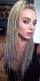 Gorgeous White Latina Mixed Girl Long Box Braids With Pink