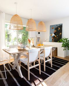 These Scandinavian -style rooms demonstrate how to master this cozy, minimalist look with style. #minimalist #scandinaviandecor #modernhomedecor #bhg Dining Room Design, Dining Area, Dining Rooms, Scandinavian Interior Design, Scandinavian Design, All Modern Furniture, Mismatched Dining Chairs, 1950s House, French Antiques