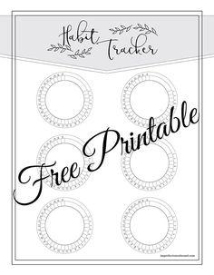 Need a new habit tracker or in a pinch for time? Check out these 21 Free Printable Habit Trackers for your bullet journal or planner. Bullet Journal Tracker, Bullet Journal Printables, Bullet Journal Layout, Printable Planner Stickers, Free Printables, Bujo, Tracker Free, Planner Pages, Happy Planner
