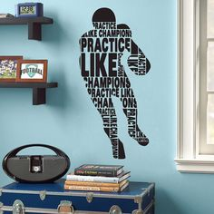 Practice Like a Champ Football wall decal by BeautifulWalls,