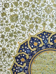 Detail of a shamsa from a Safavid Shahnameh (Iran, 16th century).