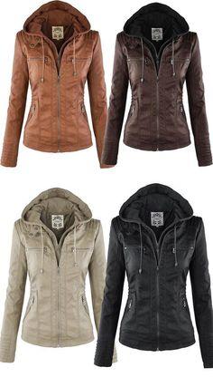 Ericdress Plus-Size Slim Double-Layer Hooded Jacket
