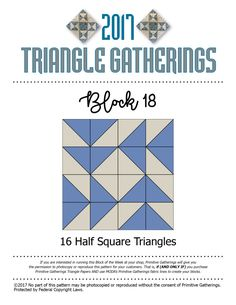 Block 18 & 19 Triangle Gatherings
