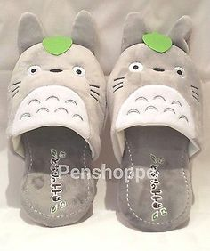 5ac7b937fce My Neighbor Totoro Catbus Plush Doll Kids Adult Slipper Warmer Anime Size
