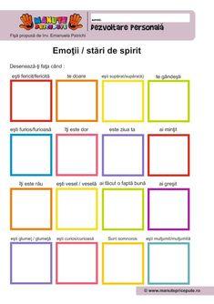 Emotions Activities, Therapy Activities, Toddler Activities, School Worksheets, Kindergarten Worksheets, Preschool Colors, Hidden Pictures, Educational Games, Emotional Intelligence
