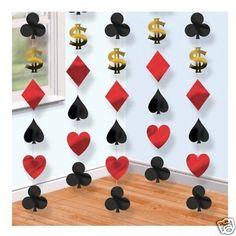 6 x 7ft Las Vegas Casino Poker Party String Decorations - Theme - Hanging