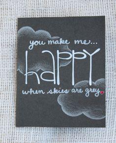 You Make Me Happy Valentine Card