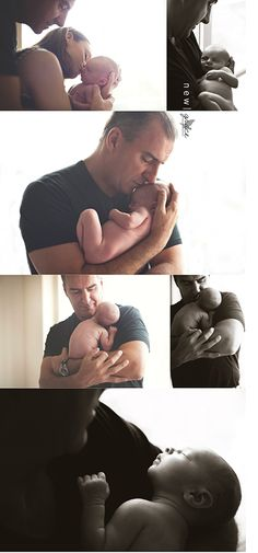 dad and #newborn girl #photography. #baby