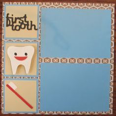 Baby first tooth scrapbook page Ashley's Adventures: Baby Boy Scrapbook Gifts
