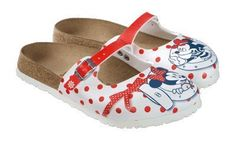Birkis clogs Maria in size 26.0 N EU made of Birko-Flor in Mickey Minnie Ahoi Points Red with a narrow insole Birki's. $67.39. Birko-Flor