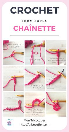 How to make a crochet chain? Hook technique for beginners on t … How to make a crochet chain? Crochet Stitches For Beginners, Crochet 101, Crochet Chain, Knitting For Beginners, Free Crochet, Pinterest Crochet, Loom Knitting, Knitting Stitches, Crochet Bikini Pattern