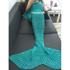 Handmade Green Knitted Mermaid Blanket Sofa Mermaid Blanket(180*200cm)