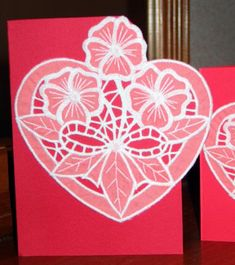 Advanced Embroidery Designs - Valentine Heart Cutwork Lace