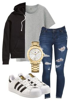"""Untitled #130"" by rabiamiah on Polyvore featuring Uniqlo, adidas Originals, H&M and Tommy Hilfiger"