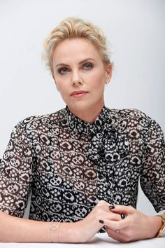 Charlize Theron at Mad Max: Fury Road Press Conference, May 2015.