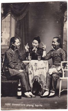 Three Chinese women playing sap ma Courtesy of elephants_collector