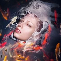 "Vienna-based photography studio Staudinger + Franke created a new photo series titled ""Barrier"" that features beautiful portraits of women half submerged in water..."
