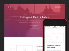 Love the colorful hero, the spacious layout and minimal illustrations. Check the website out live:  http://dbtalks.org/